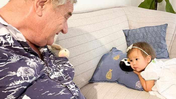 Anne Curtis's daughter Dahlia meets her grandfather on Father's Day