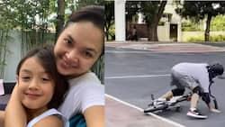 Anak nina Judy Ann Santos at Ryan Agoncillo na si Lucho, nahulog sa bisikleta sa isang viral video