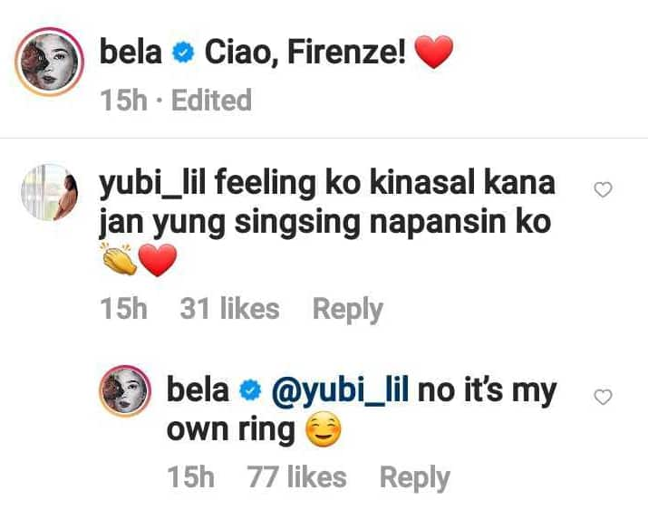 Bela Padilla denies getting married after netizen spotted her ring