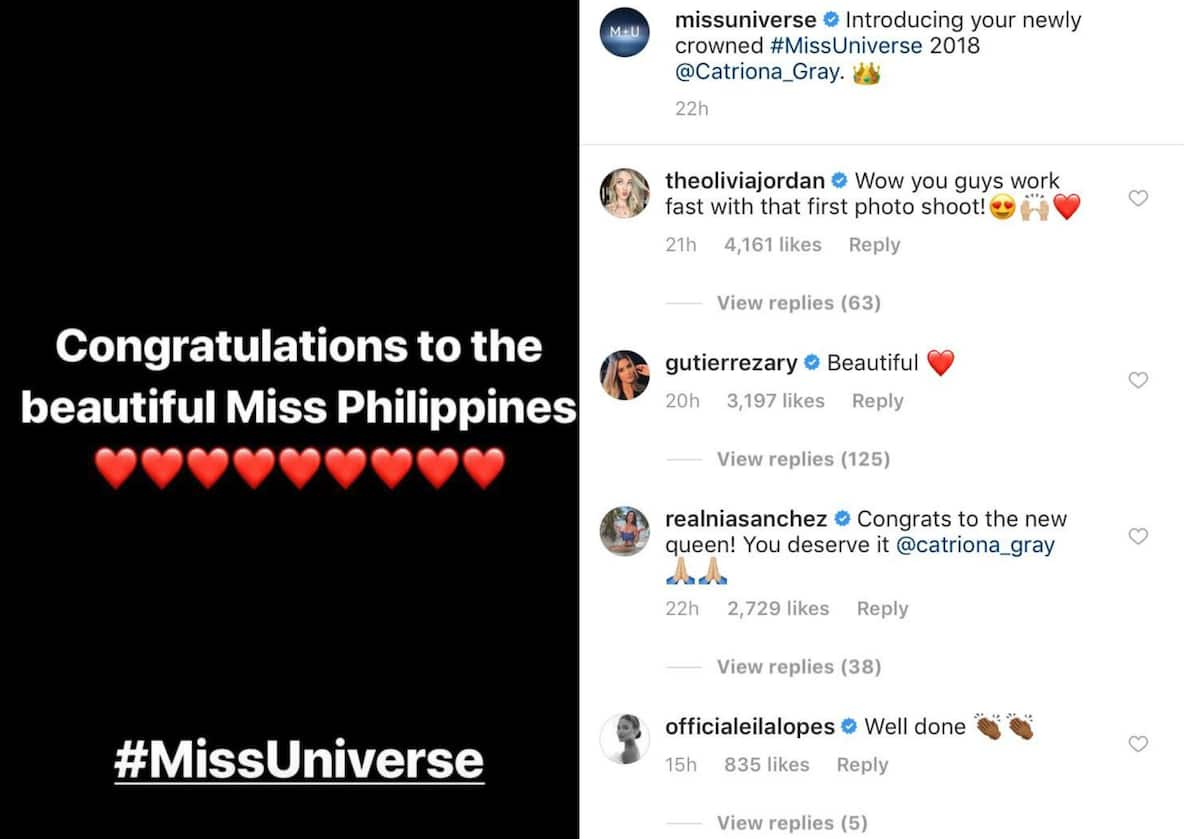Pia Wurtzbach's Miss Universe rival reacts to Catriona Gray's win