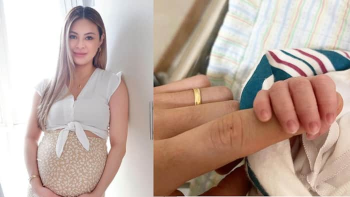 Sam Pinto gives birth to her and Anthony Semerad's first baby