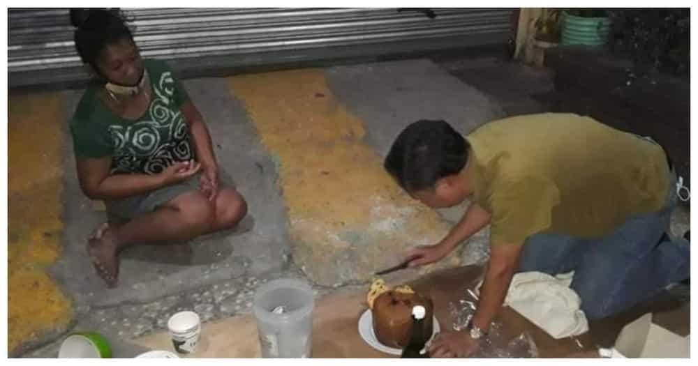 Pari na nagdiwang ng Bagong Taon kasama ang mga taong nasa ilalim ng tulay sa QC, viral