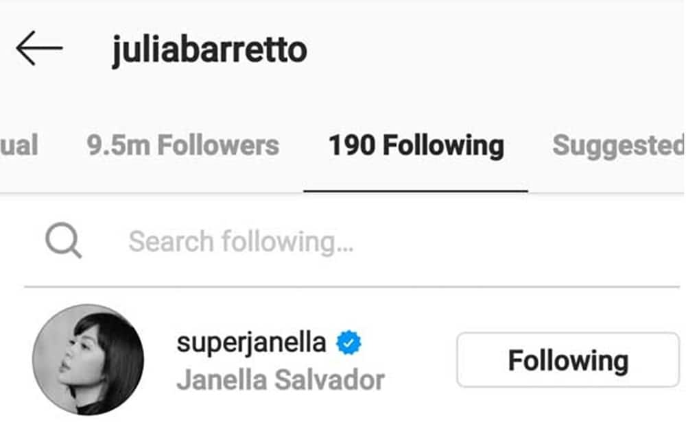 Julia Barretto follows Janella Salvador anew on IG after 'unfollow' incident in January
