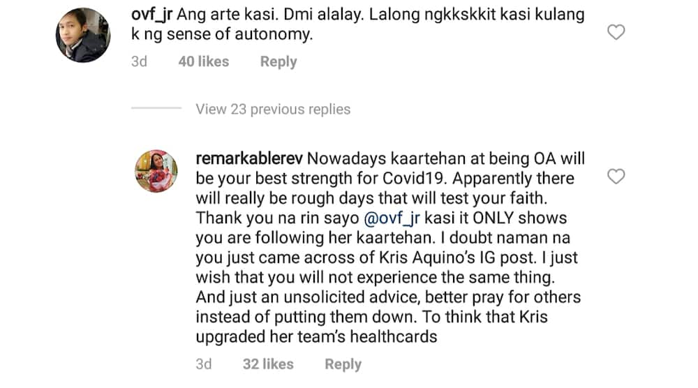 """Kris Aquino responds to """"ang arte"""" comment after experiencing COVID-19 symptoms"""