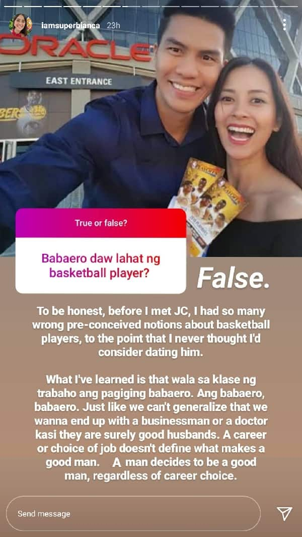 Bianca Gonzalez debunks notion that basketball players are womanizers