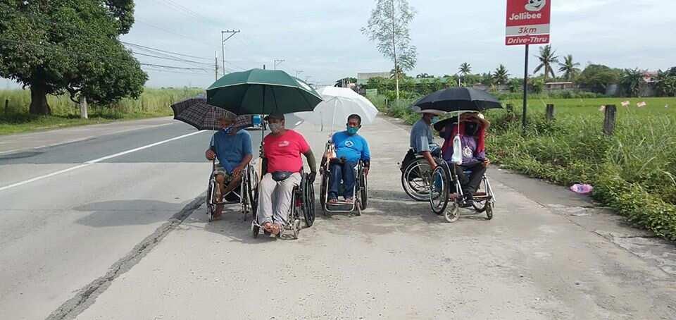 5 PWD, naglalakbay mula Pangasinan patungong Rizal gamit ang kanilang wheelchair