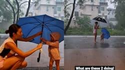Videos ni baby Thylane na enjoy na enjoy ang paglalaro sa ulan, nag-viral