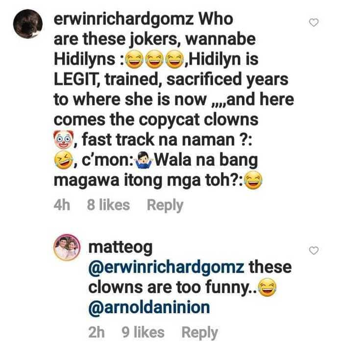"""Matteo Guidicelli laughs off basher who called him """"copycat clowns"""" of Hidilyn Diaz"""