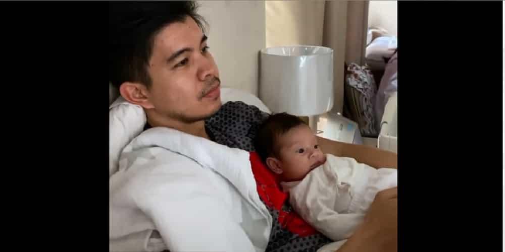 Rodjun Cruz posts his video with adorable Baby Joaquin watching Sunday online Mass