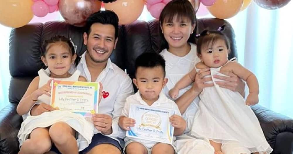 Isabel Oli gets emotional during moving-up ceremony of daughter Feather