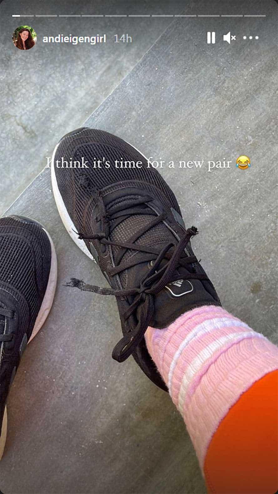 """Andi Eigenmann, ipinakita ang resibo na hindi siya maluho: """"Time for a new pair"""""""