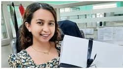 Law student, masaya sa 8 law books na Valentine's gift ng kanyang nobyo