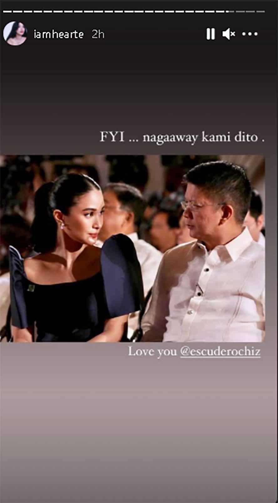 Heart Evangelista, ibinahagi ang cute na pic kung saan nag-aaway sila ng asawang si Gov. Chiz Escudero