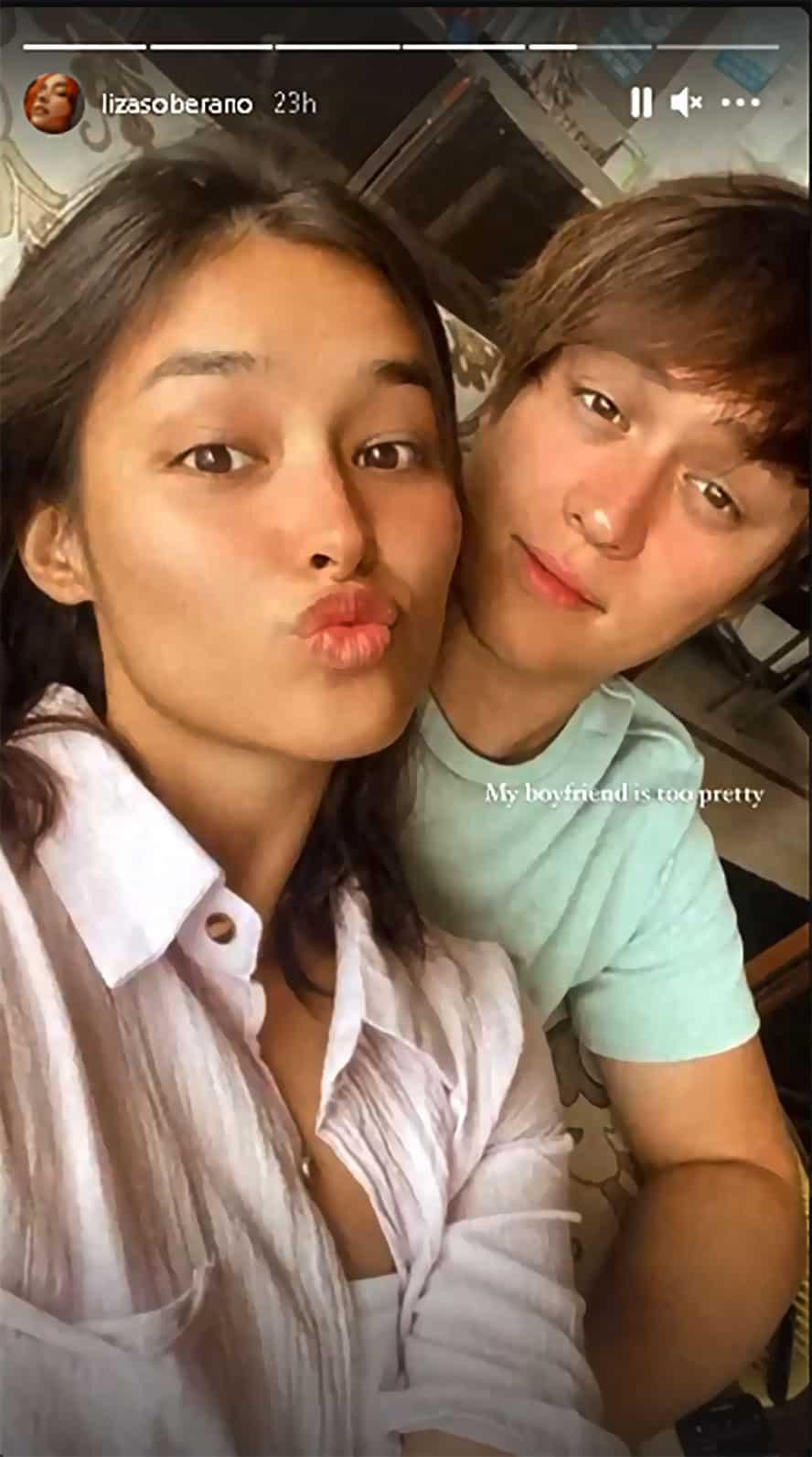 """Liza Soberano, pinuri ang pagka """"pretty"""" ng kanyang BF na si Enrique Gil"""