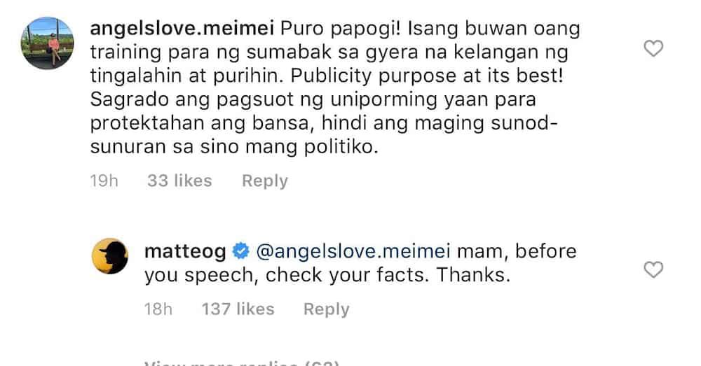 Matteo Guidicelli reacts to netizen's 'puro papogi' remark