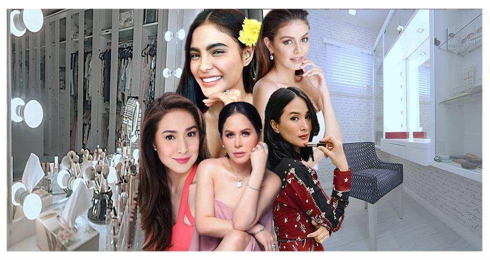 7 Gorgeous Pinay celebrities, nagpasilip sa kanilang mga bobonggang makeup corners