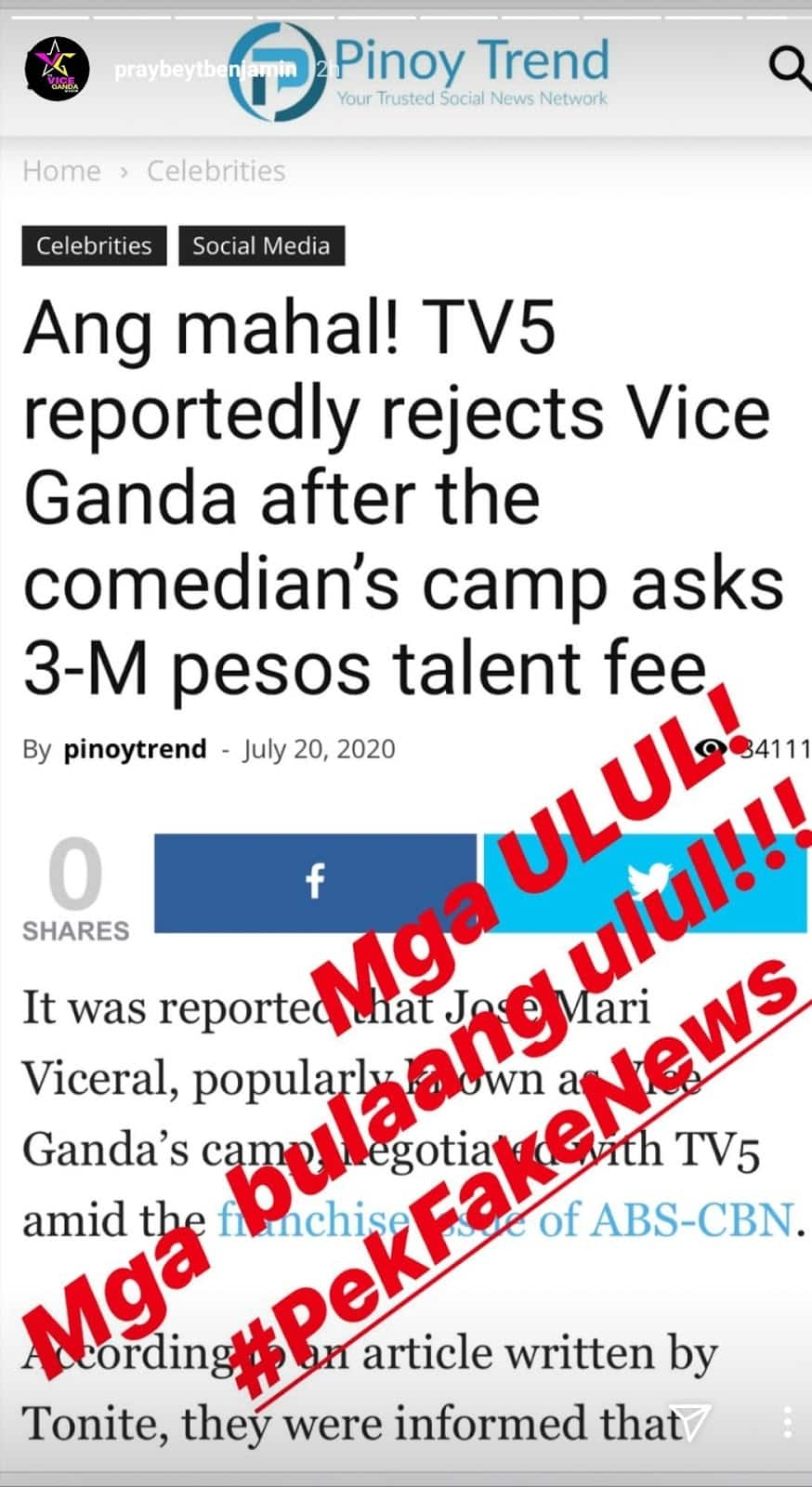 Vice Ganda reacts to rumor that TV5 rejected him due to his P3-M talent fee