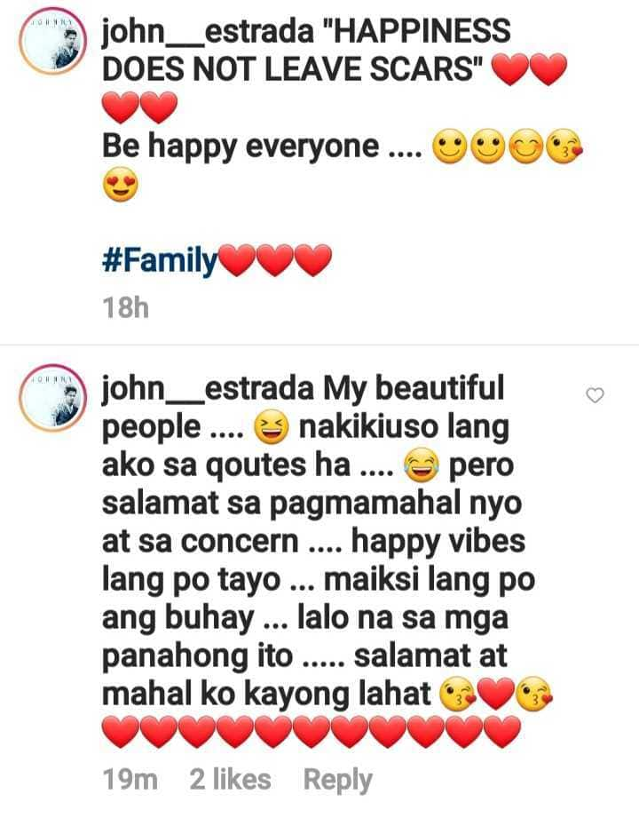 """John Estrada posts about """"happiness"""" amid issue with Derek Ramsay"""