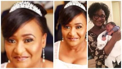 56-year-old woman who married for the first time in 2014 allegedly gives birth (photos)