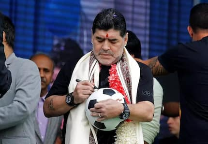 A statue of Argentinian legend Diego Maradona unveiled in India